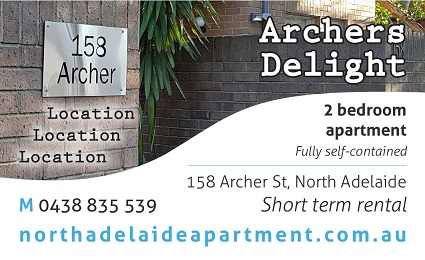 banner image for North Adelaide Apartment - Archers Delight