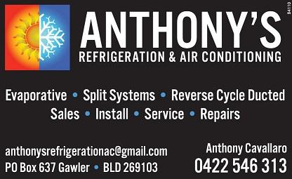 banner image for Anthony's Refrigeration & Air Conditioning