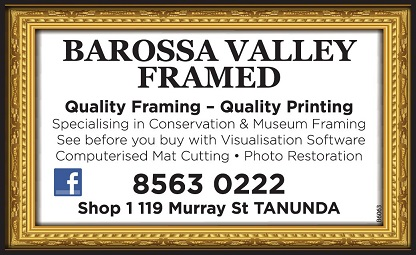 banner image for Barossa Valley Framed
